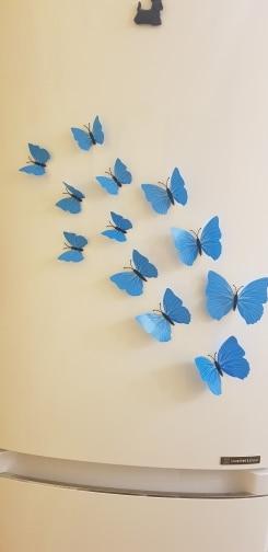 High Quality 12pcs PVC 3d Butterfly wall decor cute Butterflies wall stickers art Decals home Decoration