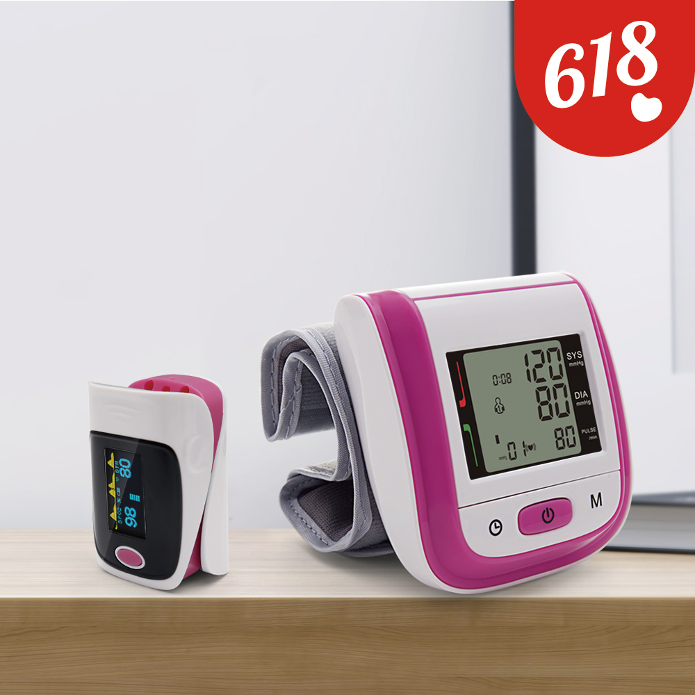 Yongrow Finger Pulse Oximeter & Wrist Blood Pressure Monitor Heart Rate De Dedo SpO2 Health Care Monitor