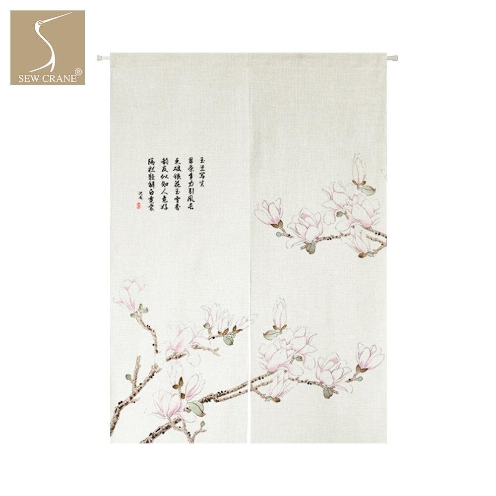 SewCrane Rosa Orchidee Japanischen Hause Restaurant Tür Vorhang Noren Tür  Raumteiler