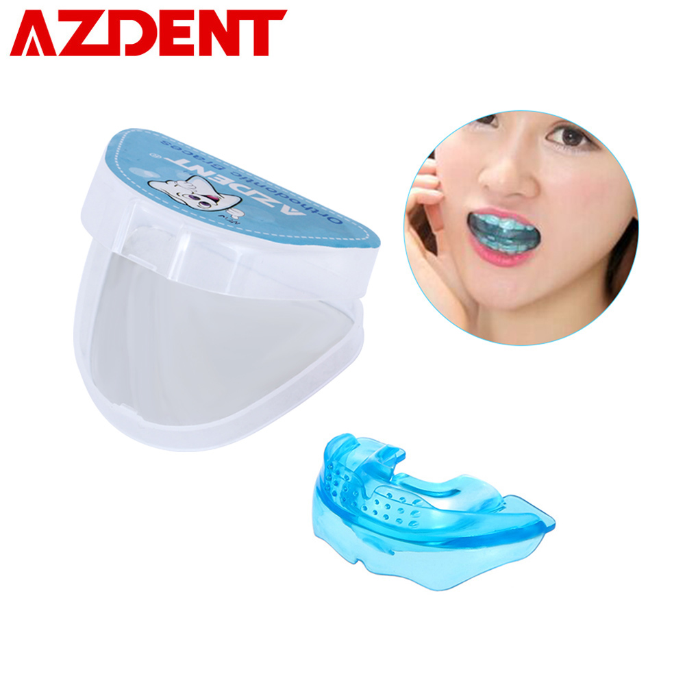 Soft+Hard Dental Tooth Orthodontics Dental Braces Silicone Tooth Alignment Tool Teeth Retainer Tooth Tray Protector Mouth Guard 4pcs promotion teeth whitening trays bleaching denture plastic mouth tooth molding bite tray disposable dental impression tray