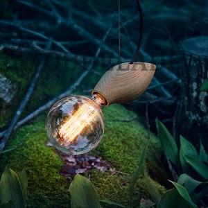 Image 3 - الحديثة خمر خشب متين صغيرة قلادة على شكل طير أضواء زينت مطعم مقهى بار مصابيح مع E27