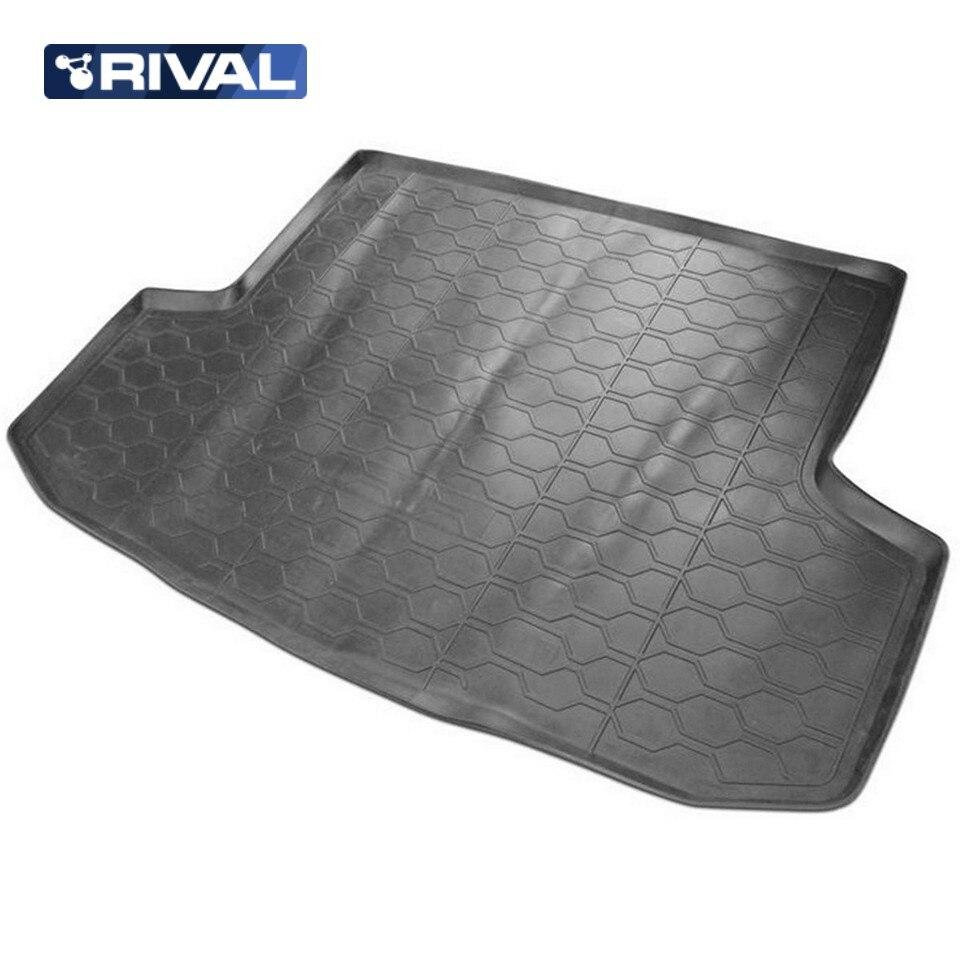 For Chevrolet Aveo T250 SEDAN 2004-2010 trunk mat Rival 11301005 for volkswagen polo sedan 2010 2019 trunk mat rival 15804002