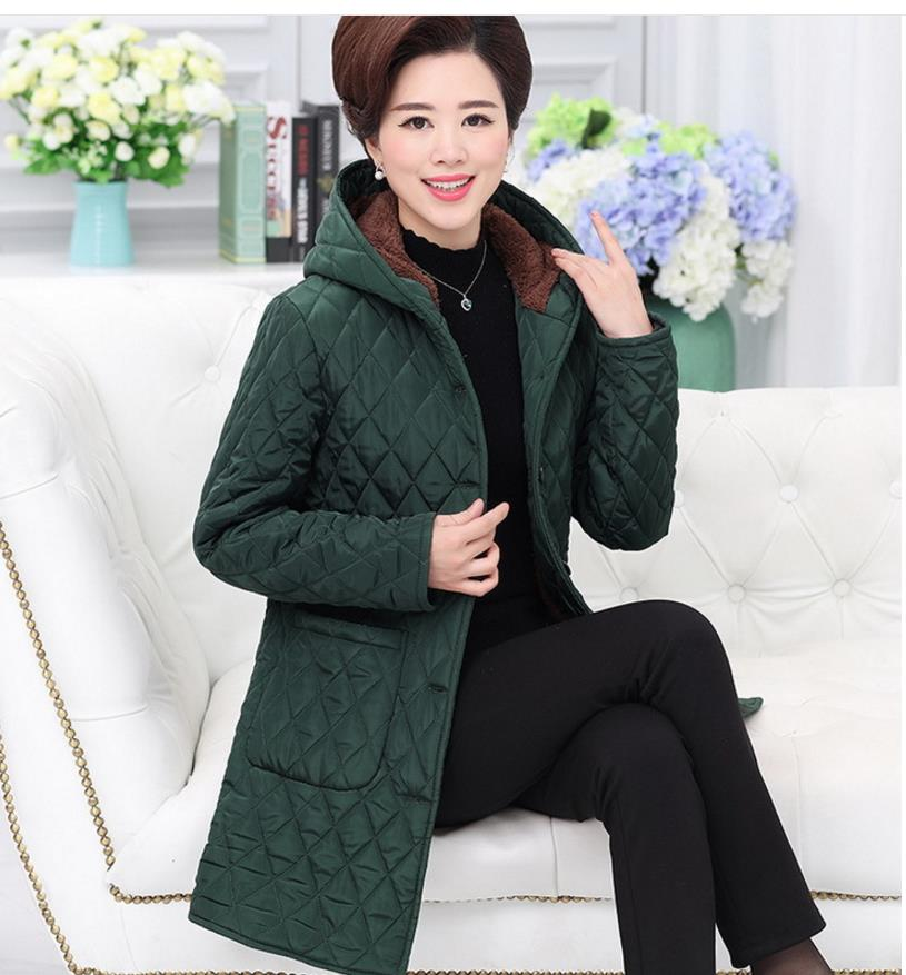 Women   parkas   coat autumn winter explosion models big yards Slim warm down jacket high fashion was thin middle-aged women coat