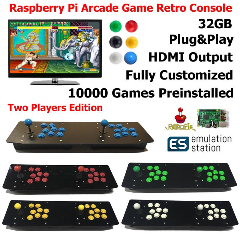 Raspberry Pi 3 Model B B Plus Arcade Game Retro Console Two Players Edition G3B03