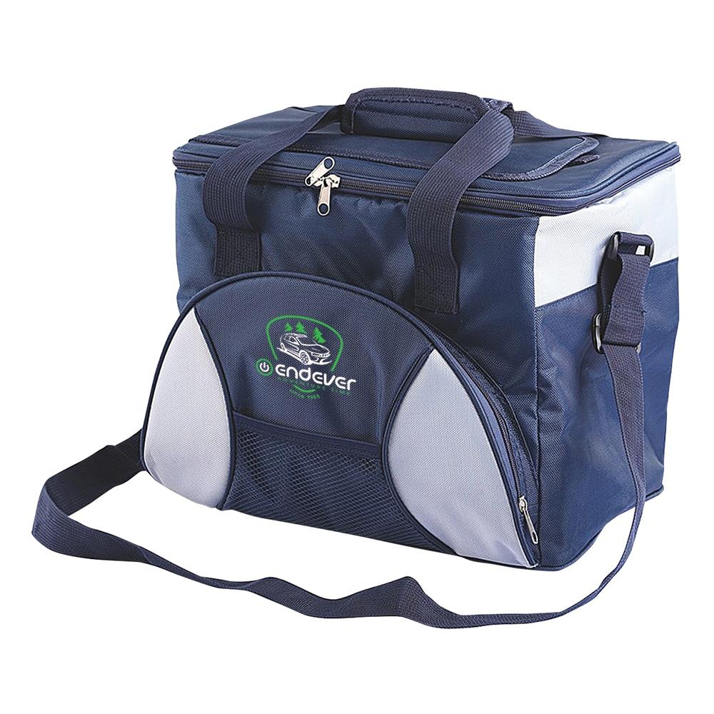 цена на Cooler bag Endever VOYAGE 007 (power 48 W, volume 22, gray/black max cooling: 11 °-15 °C below