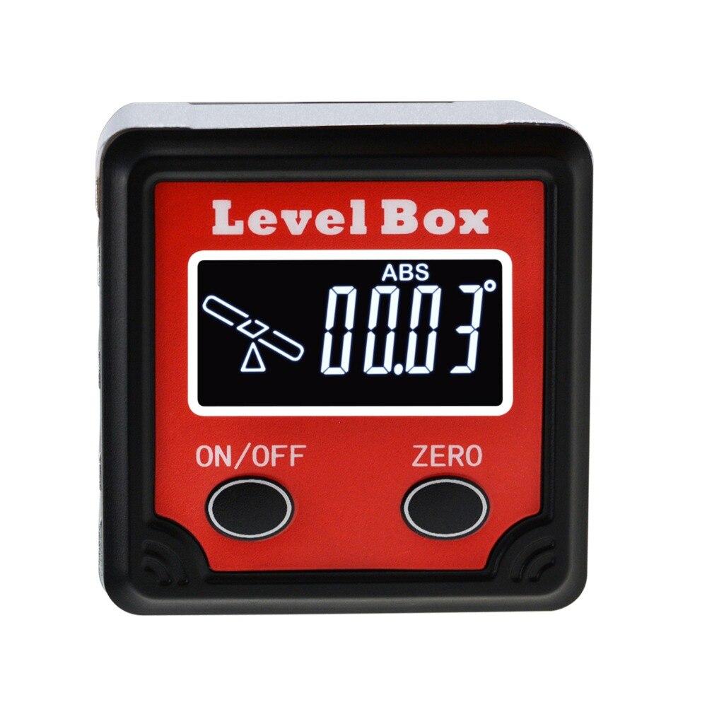 Ângulo de nível digital finder chanfro caixa base magnética 360deg (4 x 90deg) inclinômetro indicador de direção inclinação