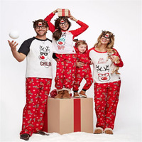Santa S BFF Reindeer Patterned Family Matching Christmas Pajamas For Whole Family Cute Father Son Mother