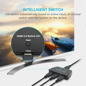 Image 5 - HDMI 2.0 Switch 3X1, 18Gbps 3 Port HDMI 2.0 Selector 4K x 2K Switch Box with High Resolution, High Speed 3D HDMI Port Switch