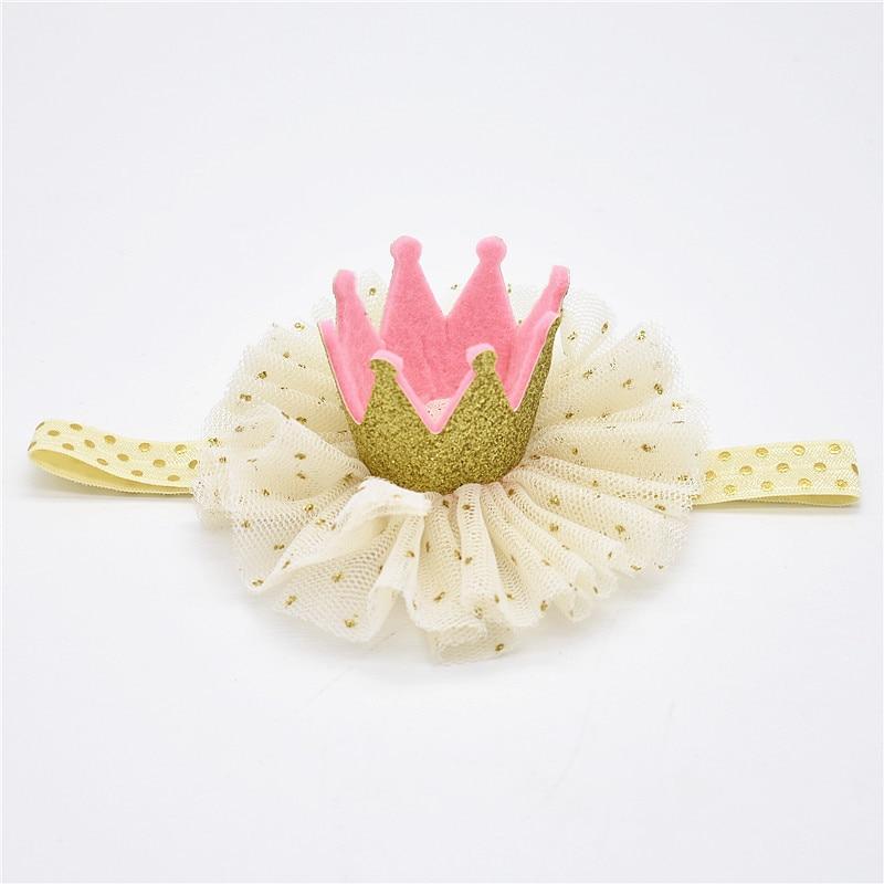 Baby Star Opaski Sliver Pink White Menina Kwiaty Hairbands Dzieci - Odzież dla niemowląt - Zdjęcie 5