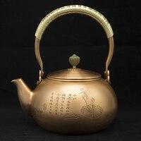 1.2L Copper pot teapot samovar Glass teapot kettle survival tea set teapot ceramic cast iron teapot  th-008