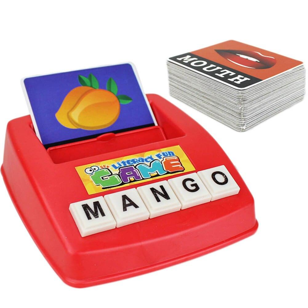 Kinderen Alfabet Puzzel Game Card Engels Alfabet Letters Leren Speelgoed Woordenschat Woord Foto Match Game Educatief Speelgoed
