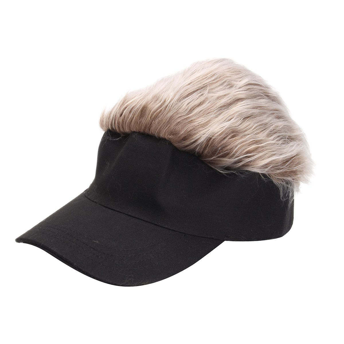 Newest Novelty Baseball Cap Wig Cap Women Men Fake Flair Hair Visor Sun Hat  Toupee Funny Hair Snapback Hats Casquette Cool Gift 80555ddad9b