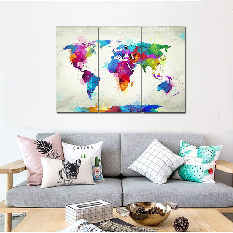 Pleasant Us 12 15 35 Off Modern Cuadros Decoracion Salon 3 Panels Colorful Abstract Home Decoration Items Wholesale Cheap Canvas Art Printing Custom In Pdpeps Interior Chair Design Pdpepsorg