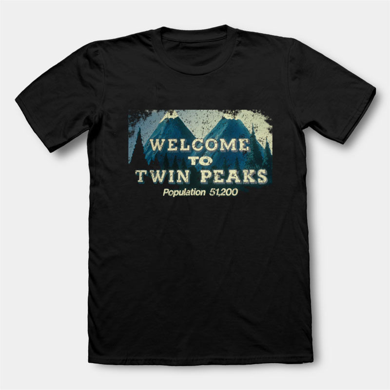 Novelty T Shirts O-Neck Twin Peaks Short Sleeve Office Tee For Men