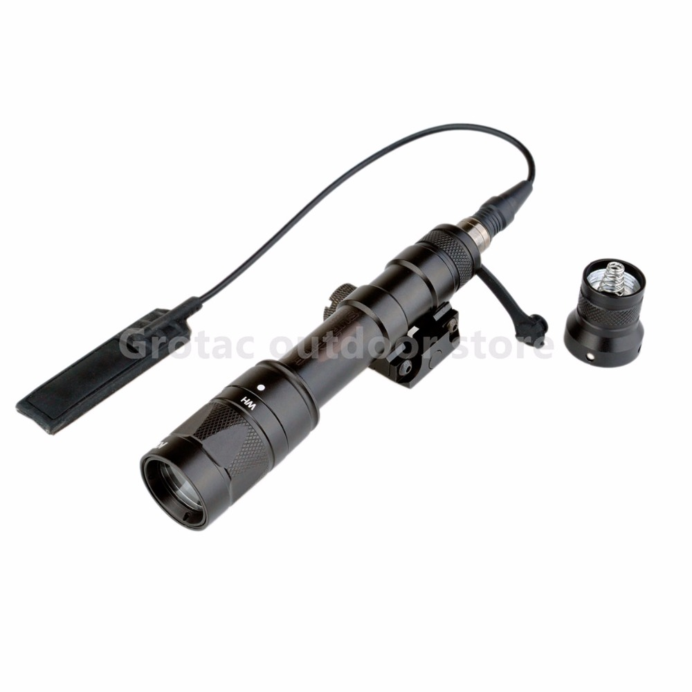 Element Tactical Scout light LED Weapon Flashlight M600W Full New Version Tactical Flashlight For airsoft greenbase m600v ir scout light white light and ir output weapon light led flashlight hunting 400 lumens flashtorch 20mm rail