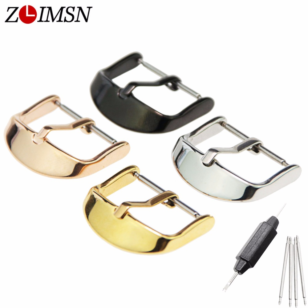 ZLIMSN Watch Band Buckles Stainless Steel Leather Straps Buckle Watchbands 4 Colors 16 18 20 22mm Watches Accessories органайзер little tikes органайзер карман для детских принадлежностей seat pal серый