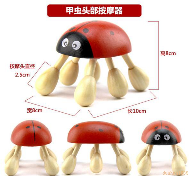 Wood Head Massager Beetle Hex Head Massager#231