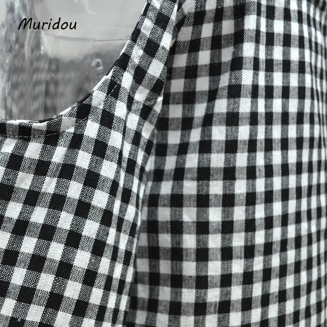 2776c6efc1b Online Shop Muridou women cold shoulder checkered shirts Blouse ...
