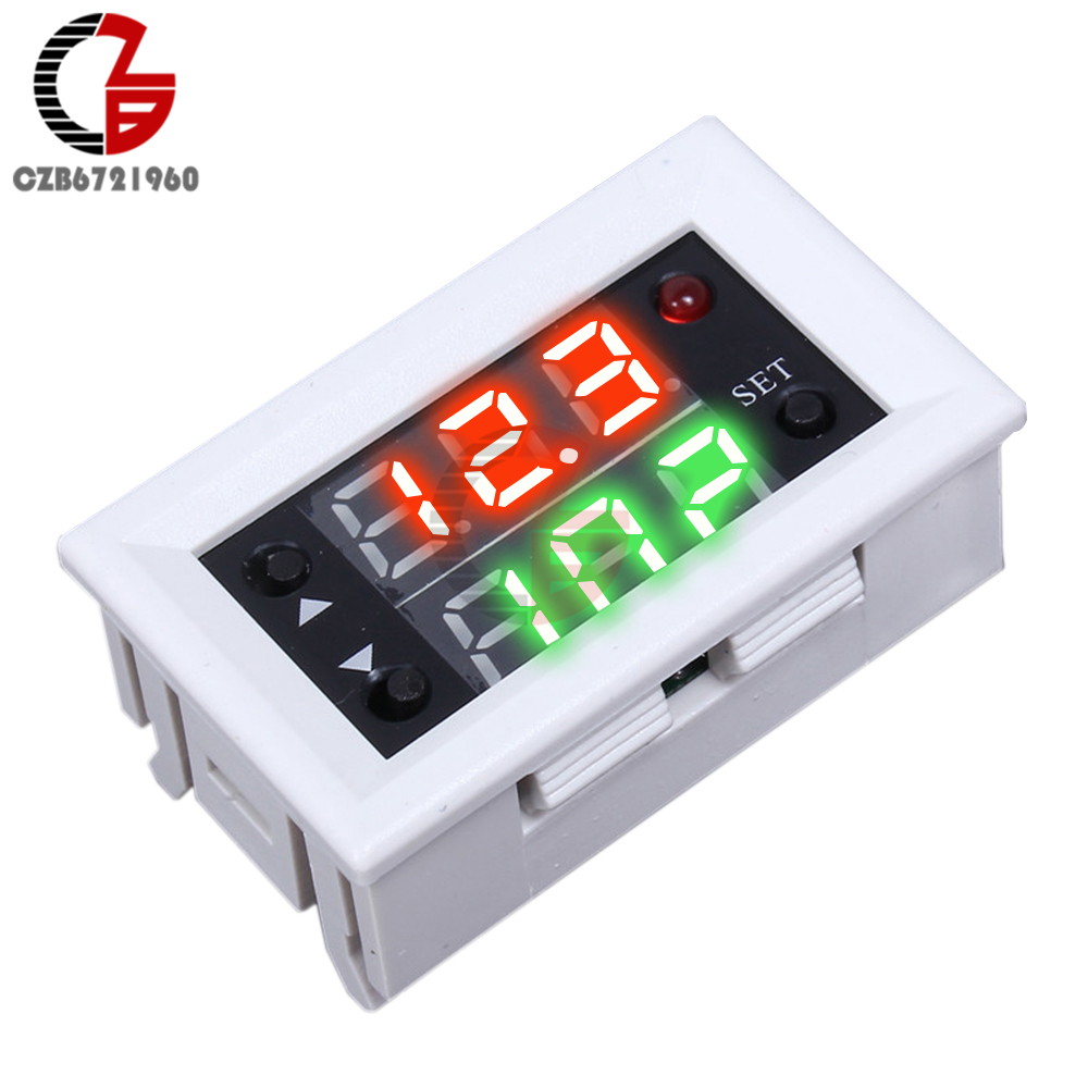 DC 12V 20A Mini Dual Display LED Digital Time Delay Relay Timer Relay Module Timing Delay Cycle 0 01 999 second 8 terminals digital timer programmable time relay