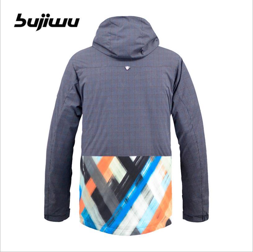 4468cccf30 2018 Bujiwu Brand Men Ski Jacket Snowboard Clothing Windproof Waterproof  Thermal Outdoor Sport Wear Skiing Snowboard Warm Coat