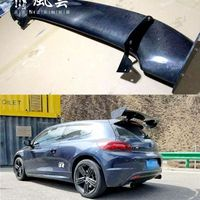 For Volkswagen VW Scirocco GT style Scirocco Carbon Fiber Rear roof Lip Wing spoiler For Volkswagen VW Scirocco 2010+