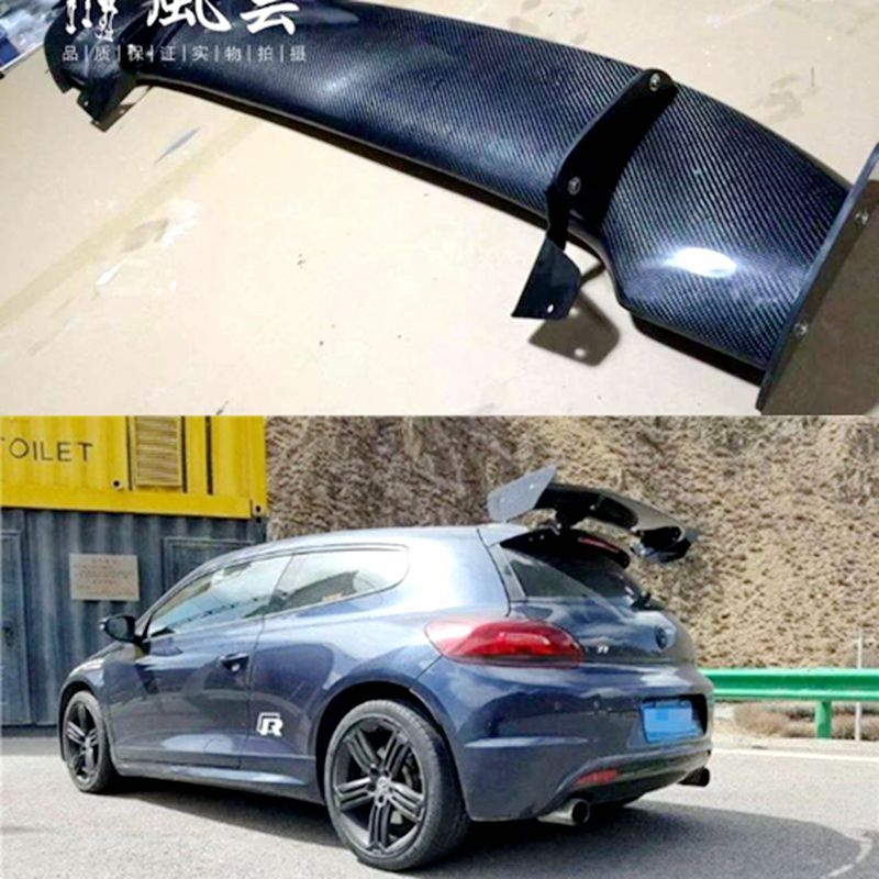 For Volkswagen VW Scirocco GT style Scirocco Carbon Fiber Rear roof Lip Wing spoiler For Volkswagen VW Scirocco 2010+