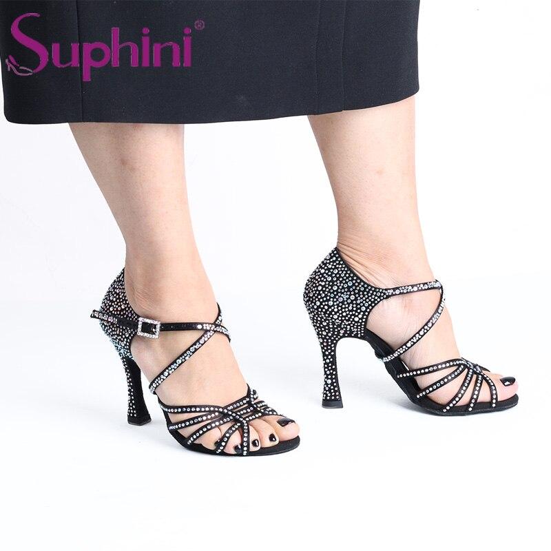 Livraison gratuite Suphini nouveau dans étoilé noir chaussures de danse latine