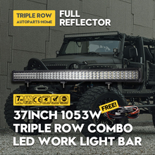 OTCCSYIU 37 INCH 1053W LED Head Light Bar Front Lamp 3-Row Super Bright Kit Fit Offroad Driving Vehicle Boat RZR ATV 12V 24V
