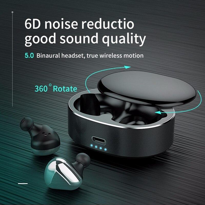 $27.99 TWS wireless earphone  handsfree bloototh earphone 360 rotate bluetooth earphone sport for samsung/iphone earphone