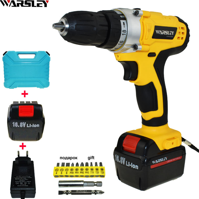 16 8V Screwdriver Cordless Drill Electric Drill Power Tools Electric 2Pcs Batteries Screwdriver Mini Drill Drilling