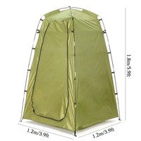 1 2x1 2x1 8m Outdoor Portable Privacy Shower Toilet Tent Waterproof Camping Tents Change BathRoom Sun