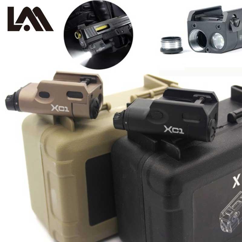Haute Lumens Tactique Surefir XC1 Pistolet Pistolet Lumière MINI LED Arme Légère Lanterna Airsoft lampe de Poche Pour GLOCK 17 18C 19 25 26