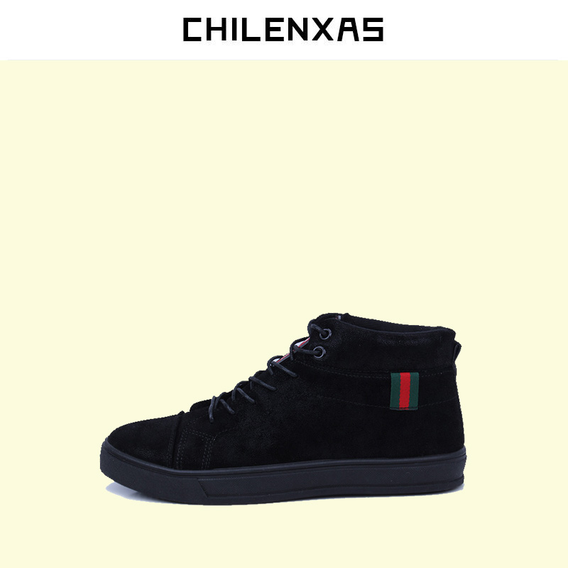 CHILENXAS 2017 Winter Leather Shoes Men Casual Style Flats New Fashion Breathable Ankle Boots Height Increasing Lace-up Solid kelme 2016 new children sport running shoes football boots synthetic leather broken nail kids skid wearable shoes breathable 49