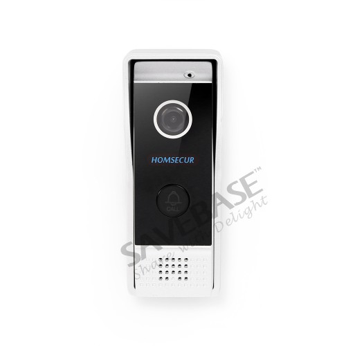 HOMSECUR 7 Bedraad handsfree Video Deur Entry Security Intercom + Zwart Camera BC031 B + BM714 S - 2