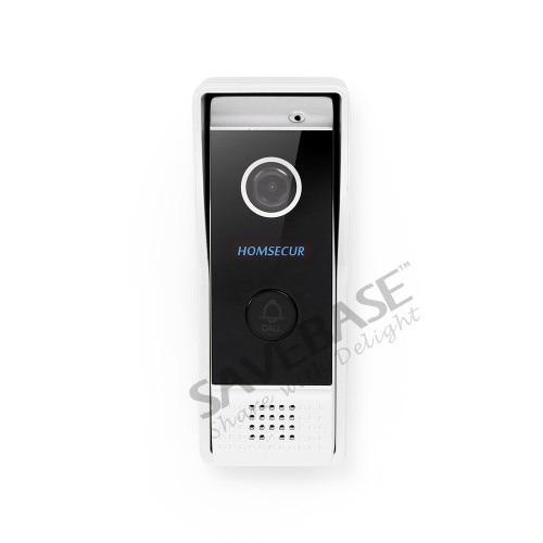 HOMSECUR 7 Verdrahtete Hände freies Video Tür Eintrag Sicherheit Intercom + Schwarz Kamera BC031 B + BM714 S - 2