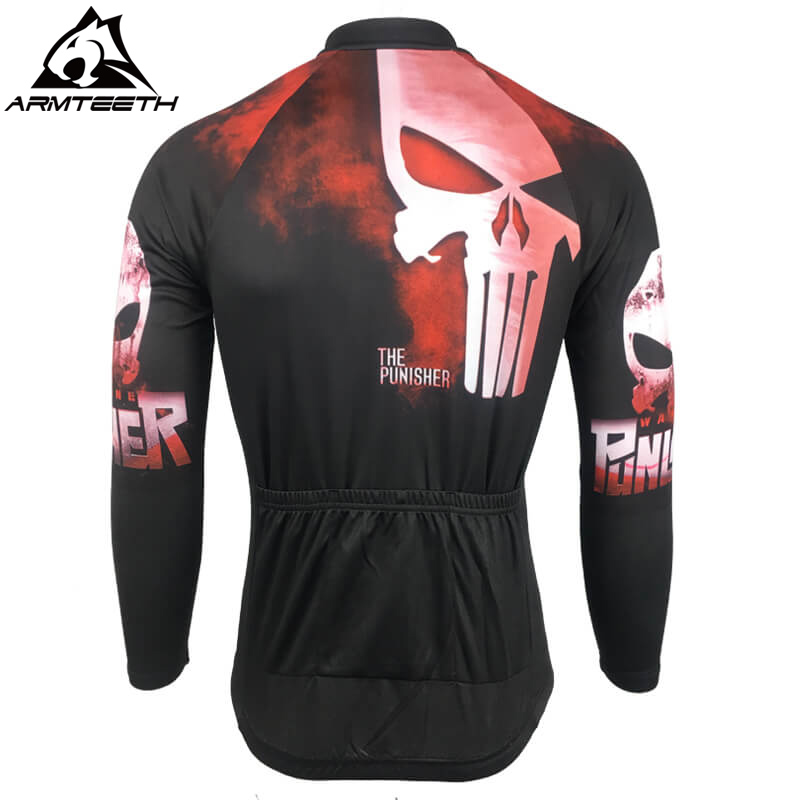 Hot Sale Punisher Long Sleeve Cycling Jersey Summer Mtb Short Anti sweat  Bicycle Clothing Quick Dry Polyester Size XS 4XL-in Cycling Jerseys from  Sports ... b329f255b