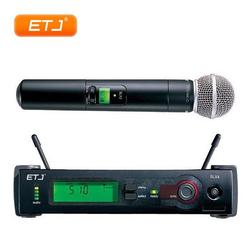 SLX24/Beta58 UHF Microphone sans fil professionnel karaoké Microphone à main de qualité supérieure SLX4 SLX2