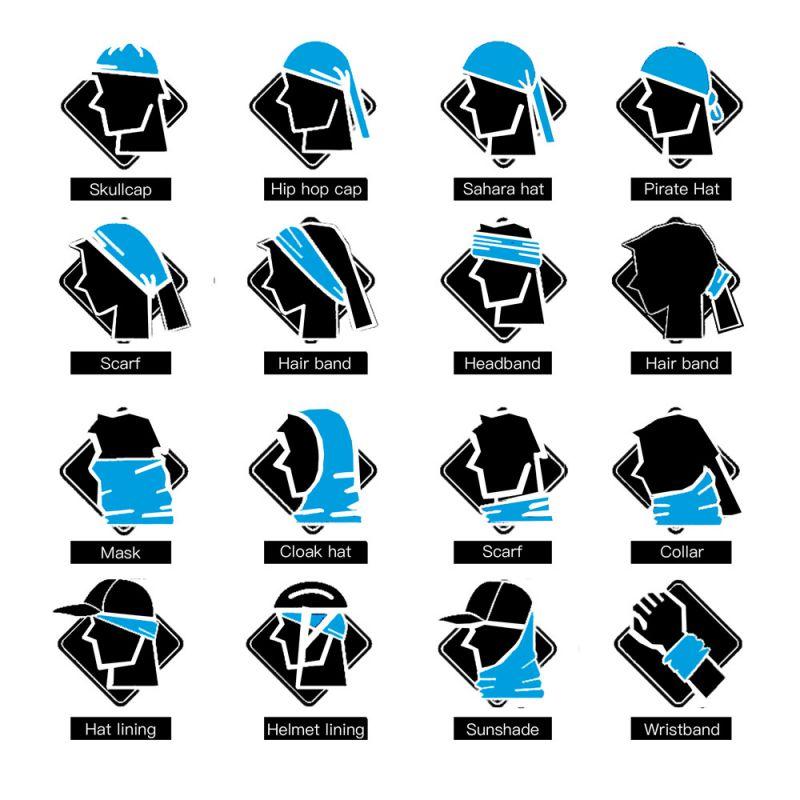 2018 Fashion Cycling Bandana Sports Face Mask Unisex Magic Seamless Bandanas Turban Hiking Head Scarf Neck Gaiter For Women Men