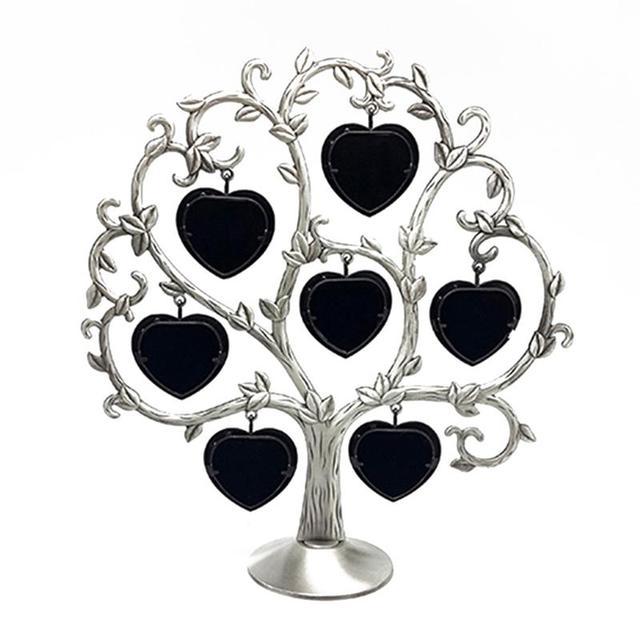 Creative Love Hearts Shaped Family Tree Photo Frames 7 pcs Set