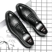 Fashion Luxury Brand Male Dress Shoes Leather Brogue Men Shoes Casual British Style Men Oxfords Wedding Party Shoes LE-35