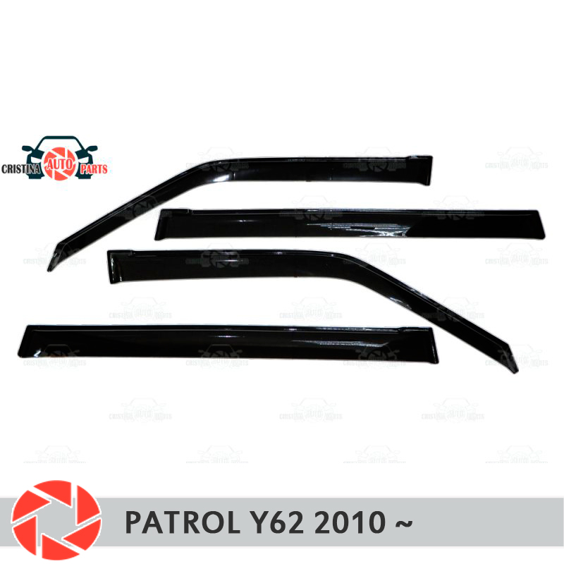 Window deflector for Nissan Patrol Y62 2010- rain deflector dirt protection car styling decoration accessories molding
