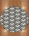 다른 골든 옐로우 블랙 그레이 기하학 바이어스 라인 3d 인쇄 안티 슬립 다시 라운드 카펫 지역 깔개 거실 욕실