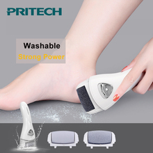2018 Pritech Electric Callus Remover Pedicure Machine Foot Care Tool Rechargeable File For Feet Pedicure Tools With 3 Head