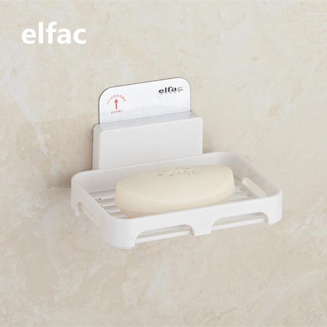 ELFAC Soap Dishes Stainless Steel Plastic Bathroom Soap Holder Shower Soap  Dish Holder Shower Tray Bathroom