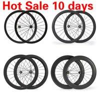 Углеродного волокна Велосипедное колесо 25 мм aero U Форма клинчер колеса велосипеда дорога 38 мм 45 мм 50 мм довод дороге колеса велосипеда 700c