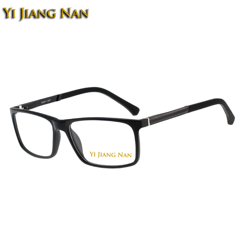 Yi Jiang Nan Brand Big Face Full Rim Optical Glasses Frame TR 90 Material Elegant Men