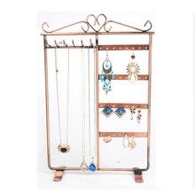 Fashion Multifunction Jewelry Display Rack Home Storage Organizer Earrings Jewelry Pendants Shelf Home Decor Jewelry Rack