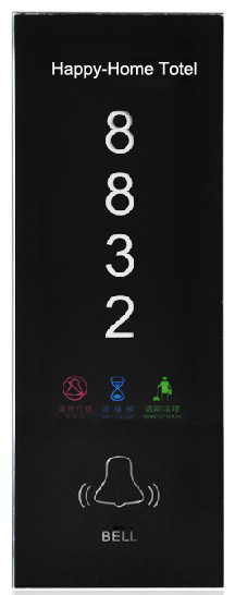 New Design Hotel House Waterproof Touch LED Door plate Doorbell,Decoration Door plate Bell Free customize buttons, Free Shipping