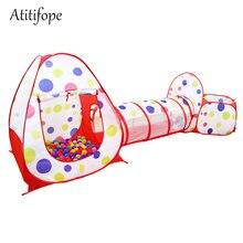 3 шт Детская игровая палатка туннель для ползания и яма мячей