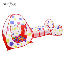 3pc Kids Play Tent Crawl Tunnel and Ball Pit Pop Up Playhouse Tent with Basketball Hoop for Girls, Boys, Babies, and Toddlers цена и фото